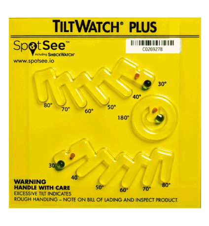 TiltWatch Plus Multi-angle Tilt Indicator Label